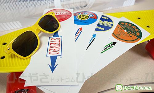 Stereo Vinyl Cruiser 付属品 4種類のシールとサングラス