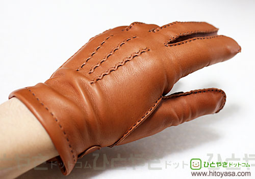 DENTS Men's Handsewn Cashmere Lined Leather Glove