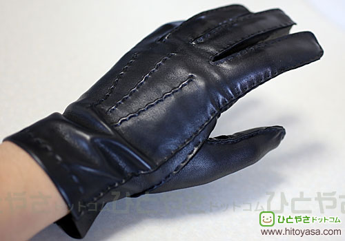 DENTS Men's Silk Lined Leather Glove black